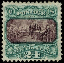 7 The Declaration Of Independence Stamp 1869