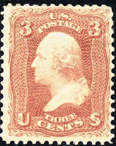 5 George Washington Stamp 1867