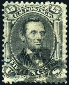 9 Abraham Lincoln Stamp 1867